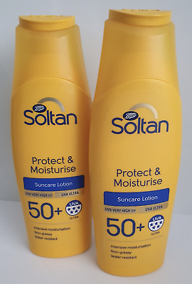 2 x Soltan Protect & Moisturise lotion SPF50+ 200ml
