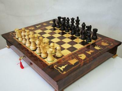 Vintage Or  Modern,Chess Set And  Giglio  Asla Sorrento Games Cabinet