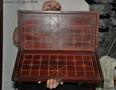 "20"" Old chinese huanghuali wood Weiqi Of Go Chessboard Chess Checkerboard Tables"