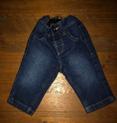 Next Baby Boys Navy Denim Jeans Age 3-6 Months, Perfect Condition RRP £15