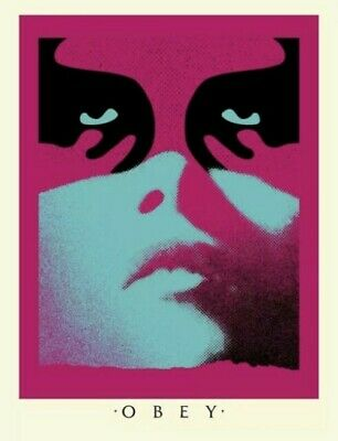 OBEY Shadowplay (Blue) by Shepard Fairey (Signed and Numbered Screen Print)