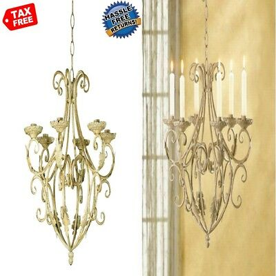 BEST Hanging Iron Candle Holder Chandelier for Outdoor Patio Dining Room Bedroom