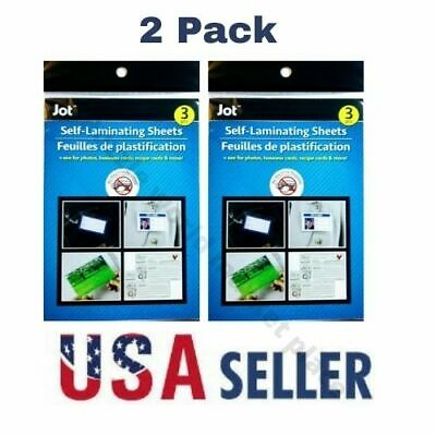 EASY Self Laminating Sheets 4X6 NO TOOLS NEEDED Free Ship for ID Card.3 pack.