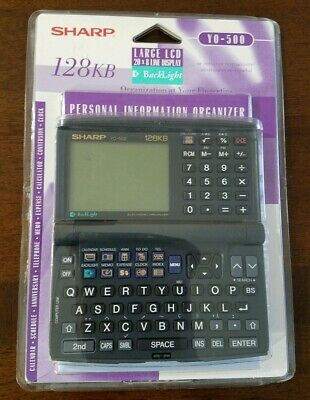 NEW Vintage Sharp LCD Personal Information Organizer Calculator YO-500 128KB