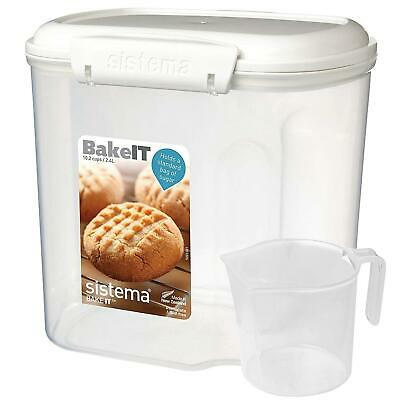 Sistema Bake IT Bakery Food Storage Container with Cup/Scoop, 2.4 L, Sugar/Flour