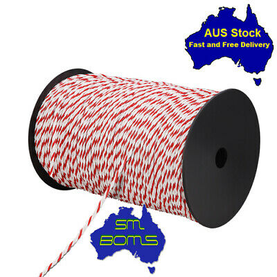 Safety Visibility Giantz 500m Stainless Steel Polywire Poly Tape Electric Fence