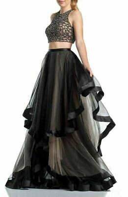 a110b489702 NWT GLAMOUR BY Terani Couture Bead Top   Organza Two-Piece Ballgown ...