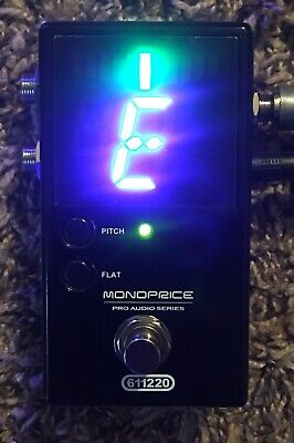 Monoprice 611220 Chromatic Pedal Tuner USA Shipped