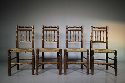 Set of Four Georgian English Antique Dales Dining Chairs