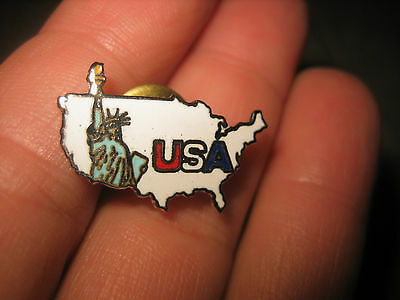 Vintage USA with STATUE OF LIBERTY Souvenir  Collectors PIN