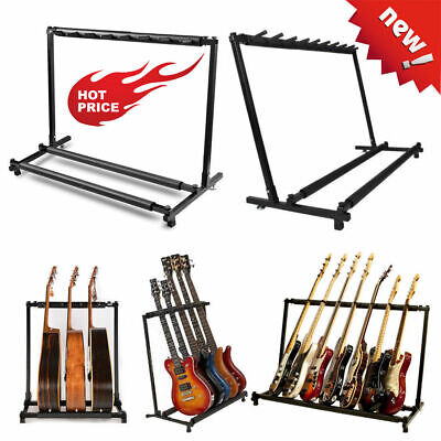 3/5/7/9 Slots New Hot Sale Black Guitar Holder Floor Stand Assembly Folding Rack