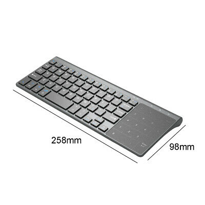 7e88fe2573b Newest 2.4G Wireless Touch Keyboard with Touchpad for PC connected TV HTPC  IPTV