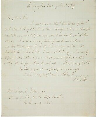 Robert E. Lee Autograph Letter Signed - Ensures His Soldier Gets Life Insurance