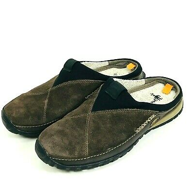 57bb057f03 Timberland Smartwool Power Lounger Slides Shoes Mens Size 8 Brown Suede  Slip On