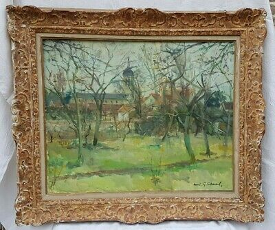 antique French, original oil painting stamped H.G Cheval,early 20th century