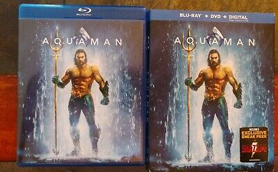Aquaman Blu-ray Case and Slip Cover only (no discs no codes)