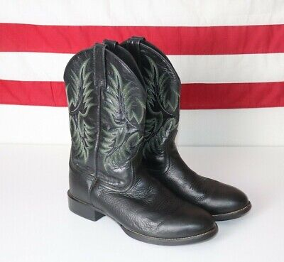 73528ae6e32 MEN'S ARIAT 10009594 Heritage Stockman Round Toe Cowboy Boots 10 D