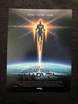 "New Marcel Studios Captain Marvel Poster IMAX 11"" X 8.5"""