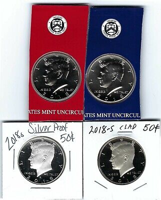 2018 PDSS BU Clad AND  Silver Proof Kennedy Half Dollar Set-P D From Mint Set