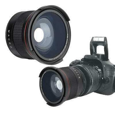 58MM 0.35X Fisheye Super HD Wide Angle Lens with Macro for Canon SLR DSLR Camera