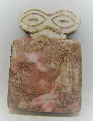 Scarce Circa 6000Bce Ancient Syro Tel Brak Stone All Seeing Eye Idol
