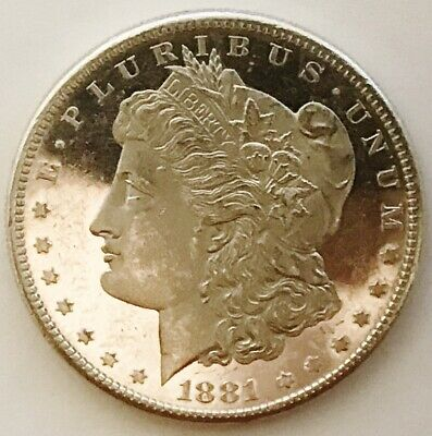 1881-S Morgan Dollar DMPL/PL Frosted, Well-Defined Cameo, B&W Contrast