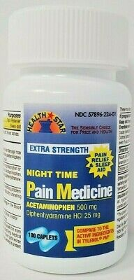 Nighttime Pain Medicine Acetaminophen PM Tablets 100ct (Compare to Tylenol PM)