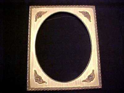 """ANTIQUE FRENCH 11"""" x 14"""" Gold Gilt GESSO & WOOD Wall PICTURE FRAME"""