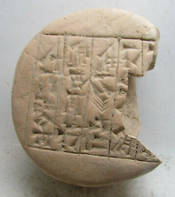 Scarce Circa 3000Bce Ancient Near Eastern Clay Tablet With Early Form Of Writing