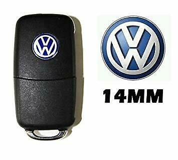 logo sticker Autocollant VW 14mm télécommande clé golf 4,5 passat polo,touran