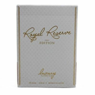 Royal Reserve Playing Cards WHITE GOLD Rare Limited Ellusionist not Bicycle Deck