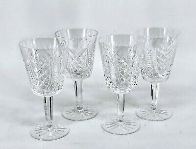 """4 Waterford Crystal Wine Glasses Clarets 7"""""""