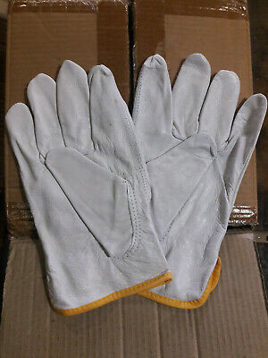 *JULY BLOW OUT SALE* 1 Doz Soft Pigskin-Cowhide Leather Drivers Gloves Size 2XL