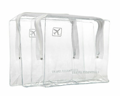 Holiday Travel Clear Bag Airline Airport Customs Compliant Cosmetic Wash Bag