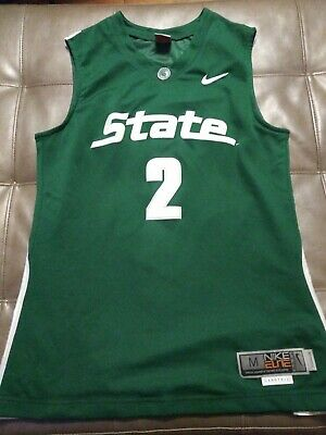 Vintage M Authentic Nike Elite Michigan State Spartans Game Jersey detroit msu