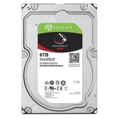"Seagate 6TB IronWolf NAS 3.5"" 7200 RPM SATA 6Gb/s , Hard Drive, HDD ST6000VN0033"