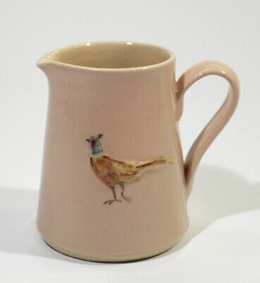 Fine Jane Hogben Pottery Jug Painted with Pheasant.