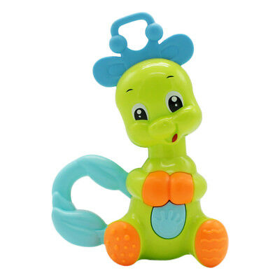 Baby Cute Cartoon Giraffe Plastic Shaking Rattles Bell Kids Early Eductional Toy