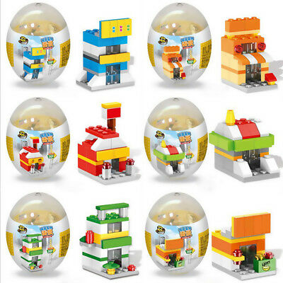 Self-Locking Street View/Fire Rescue Team Building Blocks Kids Learning Toy Egg
