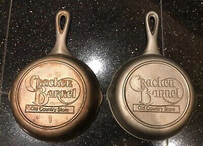 """Lot of 2~ 6 1/2"""" Cast Iron Cracker Barrel Old Country Store Skillets"""
