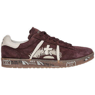 Premiata Chaussures Baskets Sneakers Homme En Daim Andy Bordeaux 922