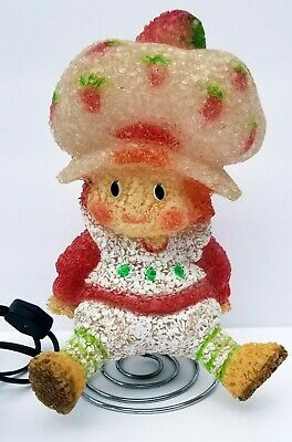 Vintage Strawberry Shortcake Plastic Popcorn Lamp With Spring Stand