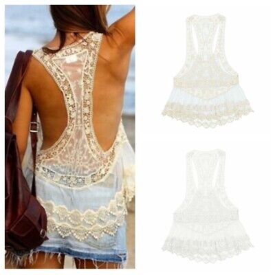 Women's Crochet Lace Beach Dress Swimwear Bikini Cover Up Swimsuit Bathing Suit