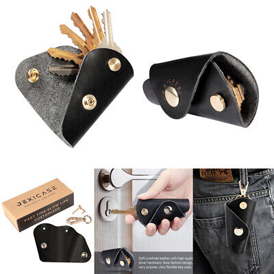 Universal Portable Leather Key Wallet Holder Organizer Car Keyring Chain Pouch