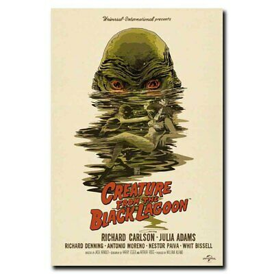 Creature From The Black Lagoon 24x16 24x36inch Horror Movie Silk Poster