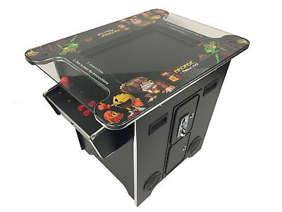 """60 Game Cocktail Table Top Arcade Machine 22"""" Screen Free Shipping New 24mth War"""