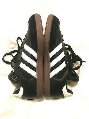a4b71d650b4 Mens Adidas Samba Black Athletic Sport Indoor Soccer Shoes Size 7.5 Women s  9