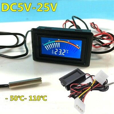DC 5-25V Thermometer Temperature Display Air Conditioner Car Water Measurement