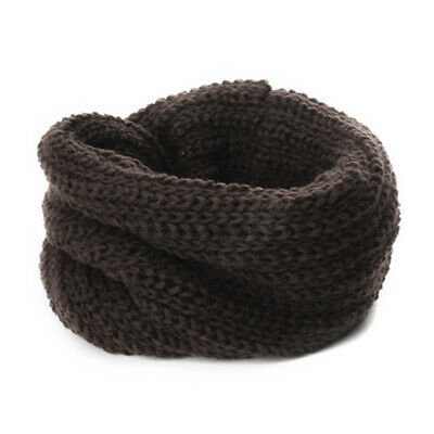 Winter Warm Soft Candy Color Neck Bib Scarfs Kids Knitted Collar Neck Warmmer