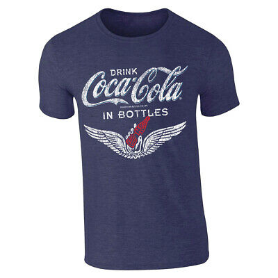 Coca Cola Bottle Wings Red Men T-shirt